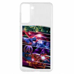 Чехол для Samsung S21+ Super power avengers