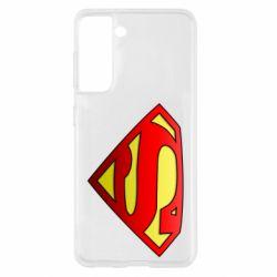 Чехол для Samsung S21 Superman Logo