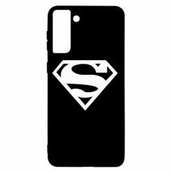 Чехол для Samsung S21+ Superman одноцветный