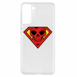 Чехол для Samsung S21+ Superman Skull