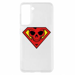 Чехол для Samsung S21 Superman Skull