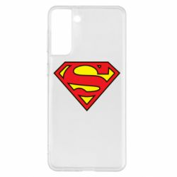 Чехол для Samsung S21+ Superman Symbol