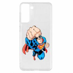 Чохол для Samsung S21+ Супермен Комікс