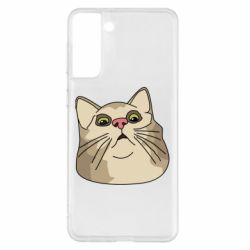 Чехол для Samsung S21+ Surprised cat