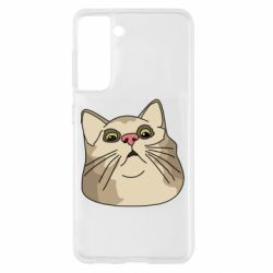 Чехол для Samsung S21 Surprised cat