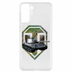 Чехол для Samsung S21+ Tank and WOT game logo