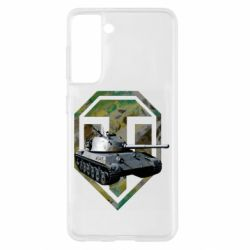 Чехол для Samsung S21 Tank and WOT game logo