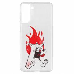 Чохол для Samsung S21+ The cat is mad