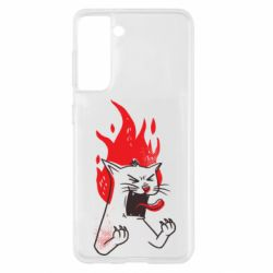 Чохол для Samsung S21 The cat is mad