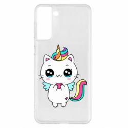Чохол для Samsung S21+ The cat is unicorn