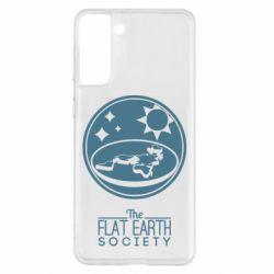 Чохол для Samsung S21+ The flat earth society