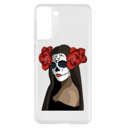 Чохол для Samsung S21+ The girl in the image of the day of the dead