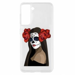 Чохол для Samsung S21 The girl in the image of the day of the dead