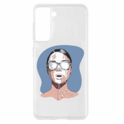 Чохол для Samsung S21 The girl is doused with milk
