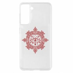 Чохол для Samsung S21 The Witcher Wolf and Pattern