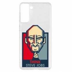 Чехол для Samsung S21+ Think Steve Jobs