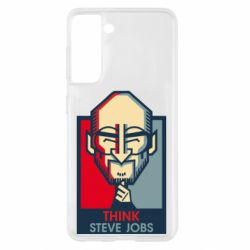 Чехол для Samsung S21 Think Steve Jobs