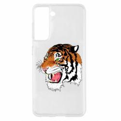 Чохол для Samsung S21 Tiger roars