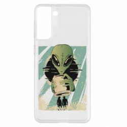 Чохол для Samsung S21+ Alien with a can
