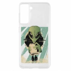 Чохол для Samsung S21 Alien with a can