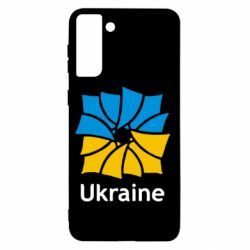 Чохол для Samsung S21+ Ukraine квадратний прапор