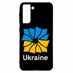 Чохол для Samsung S21 Ukraine квадратний прапор