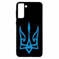 Чохол для Samsung S21+ Ukrainian trident with contour