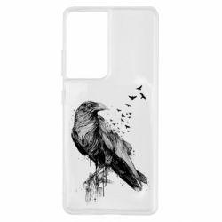 Чохол для Samsung S21 Ultra A pack of ravens