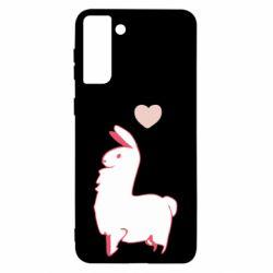 Чохол для Samsung S21 Ultra Alpaca with a heart