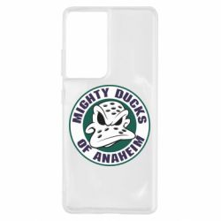 Чехол для Samsung S21 Ultra Anaheim Mighty Ducks Logo