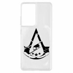 Чехол для Samsung S21 Ultra Assassin's Creed and skull 1