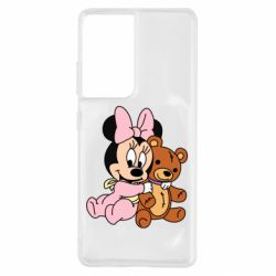 Чохол для Samsung S21 Ultra Baby minnie and bear