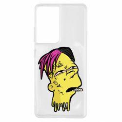 Чехол для Samsung S21 Ultra Bart as Lil Peep