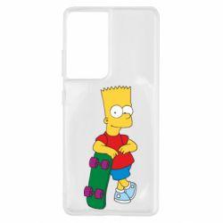 Чохол для Samsung S21 Ultra Bart Simpson