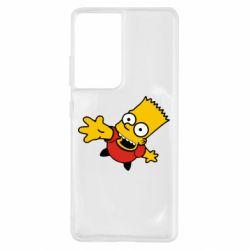 Чехол для Samsung S21 Ultra Барт Симпсон