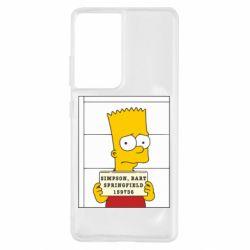 Чехол для Samsung S21 Ultra Барт в тюряге