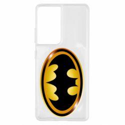 Чохол для Samsung S21 Ultra Batman logo Gold
