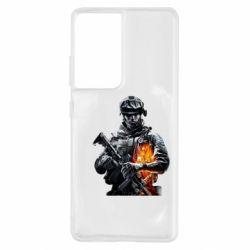 Чехол для Samsung S21 Ultra Battlefield Warrior
