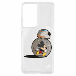 Чохол для Samsung S21 Ultra BB-8 and Mickey Mouse