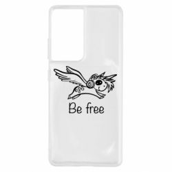 Чехол для Samsung S21 Ultra Be free unicorn