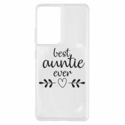 Чохол для Samsung S21 Ultra Best auntie ever