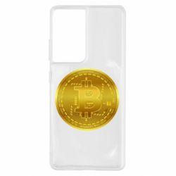Чохол для Samsung S21 Ultra Bitcoin coin
