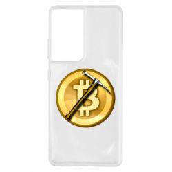 Чохол для Samsung S21 Ultra Bitcoin Hammer