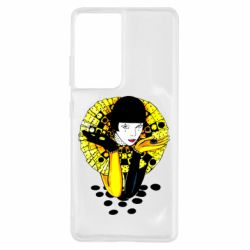 Чехол для Samsung S21 Ultra Black and yellow clown