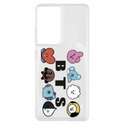Чохол для Samsung S21 Ultra Bts emoji