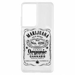 Чохол для Samsung S21 Ultra Cannabis label