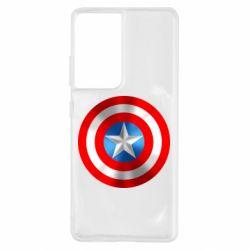 Чехол для Samsung S21 Ultra Captain America 3D Shield