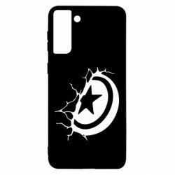 Чохол для Samsung S21 Ultra Captain America shield