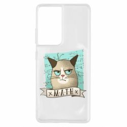 Чехол для Samsung S21 Ultra Cat and Math