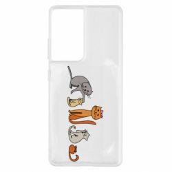 Чехол для Samsung S21 Ultra Cat family